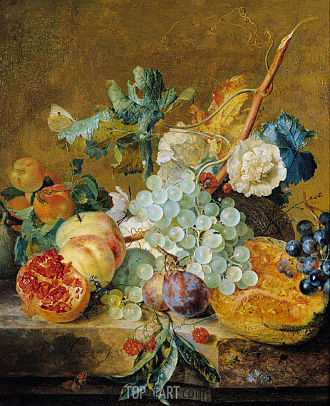 Flowers and Fruit, c.1715/30 | Jan van Huysum| Painting Reproduction