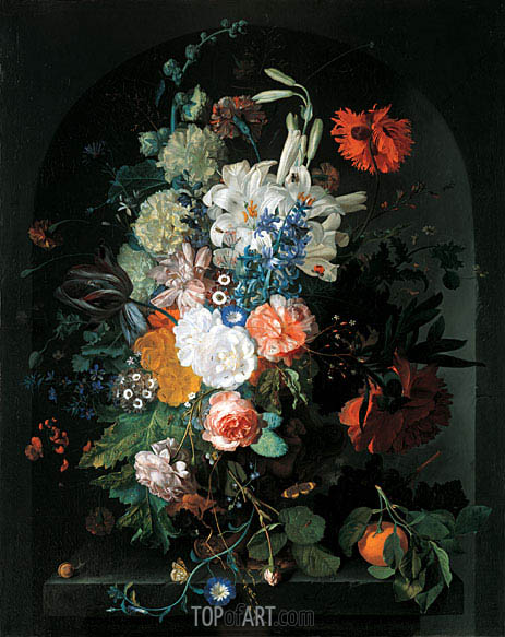 Bouquet of Flowers, undated | Jan van Huysum | Gemälde Reproduktion