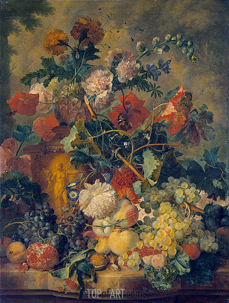 Jan van Huysum | Flowers and Fruit, 1723