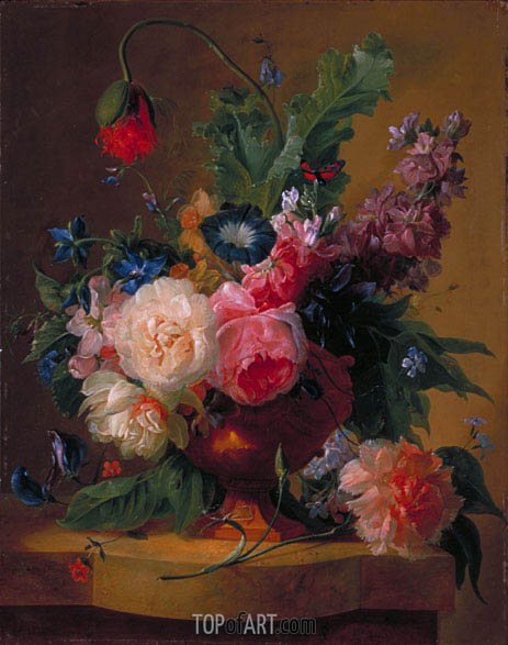Flower Piece, 1740 | Jan van Huysum | Painting Reproduction
