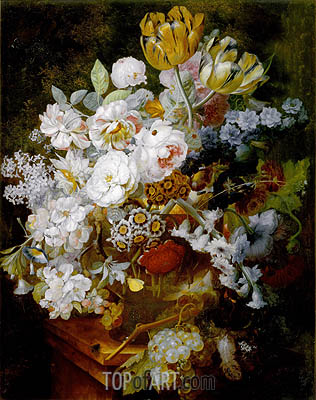 Still Life with Flowers, undated | Jan van Huysum| Painting Reproduction