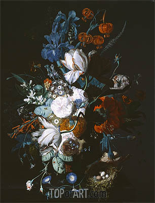 Vase with Flowers, c.1720 | Jan van Huysum| Painting Reproduction