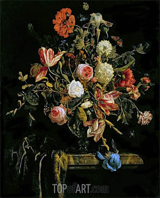 Flower Still Life, 1706 | Jan van Huysum| Painting Reproduction
