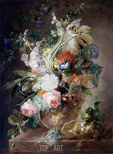 Vase with Flowers, undated | Jan van Huysum| Gemälde Reproduktion