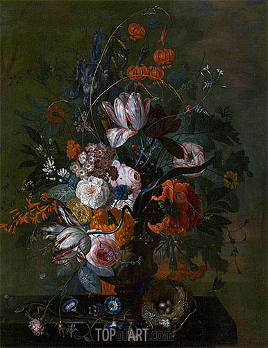 Bouquet of Flowers, b.1716 | Jan van Huysum | Painting Reproduction