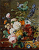 Basket of Flowers with Butterflies | Jan van Huysum