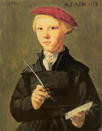 The Schoolboy, 1531 von Jan van Scorel | Gemälde-Reproduktion
