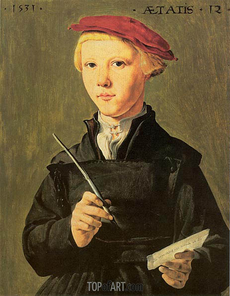 The Schoolboy, 1531 | Jan van Scorel | Painting Reproduction
