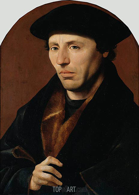 Portrait of a Man, 1529 | Jan van Scorel | Gemälde Reproduktion