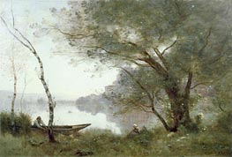 The Boatman of Mortefontaine, c.1865/70 von Corot | Gemälde-Reproduktion