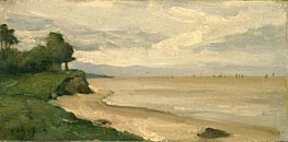 Beach near Etretat, c.1872 by Corot | Painting Reproduction