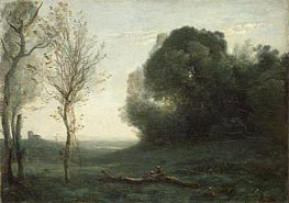 Morning, c.1850/60 by Corot | Painting Reproduction