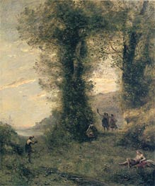 Pastorale, 1873 by Corot | Painting Reproduction