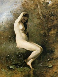 Venus at Her Bath, c.1873/74 by Corot | Painting Reproduction