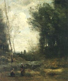 The Valley, 1871 by Corot | Painting Reproduction