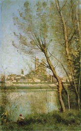 The Cathedral of Mantes, c.1865/69 von Corot | Gemälde-Reproduktion