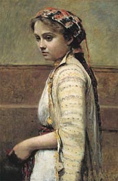 The Greek Girl, c.1870/73 by Corot | Painting Reproduction