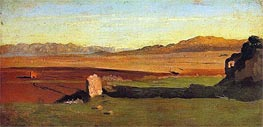 Roman Countryside, undated by Corot | Painting Reproduction