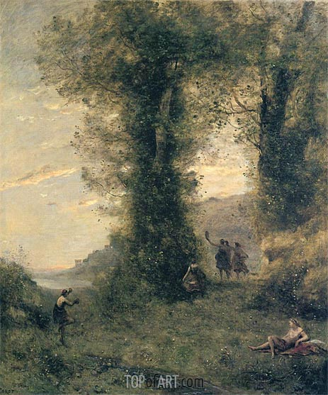 Pastorale, 1873 | Corot | Painting Reproduction
