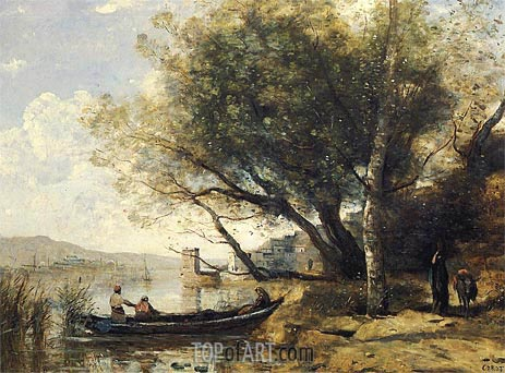 Smyrne-Bournabat, 1873 | Corot | Painting Reproduction