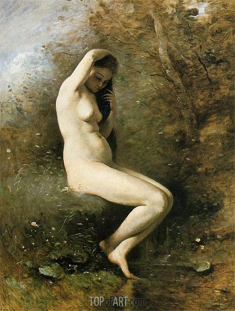 Corot | Venus at Her Bath, c.1873/74