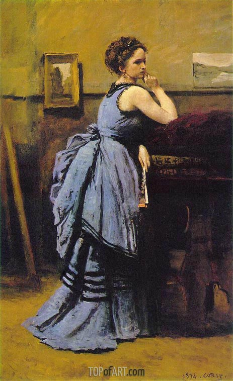 Corot | Lady in Blue, 1874