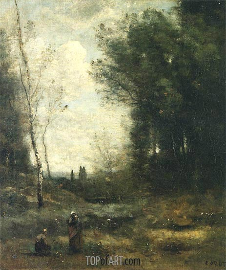 The Valley, 1871 | Corot | Painting Reproduction