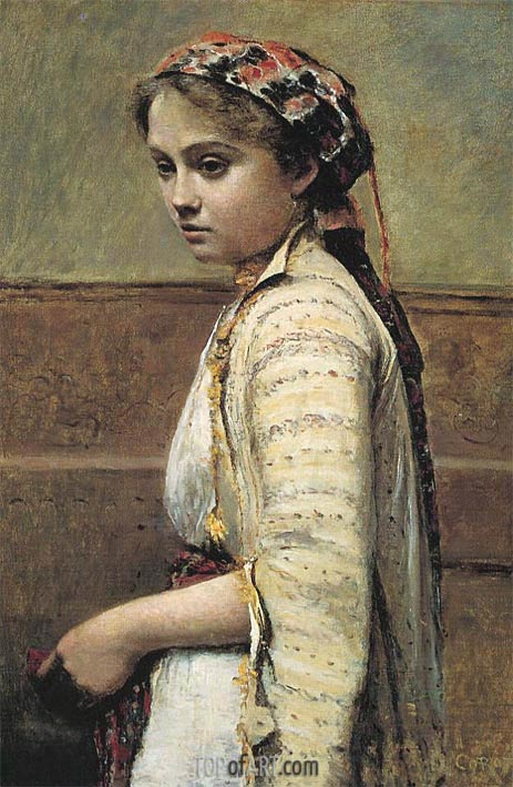 The Greek Girl, c.1870 | Corot | Painting Reproduction