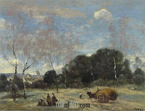 Corot | The Return of the Hayers to Marcoussis, c.1870/74