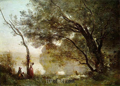 Souvenir of Mortefontaine, 1864 | Corot | Painting Reproduction