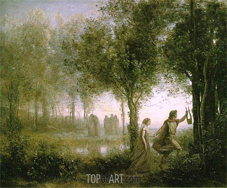 Orpheus Leading Eurydice from the Underworld, 1861 | Corot | Gemälde Reproduktion