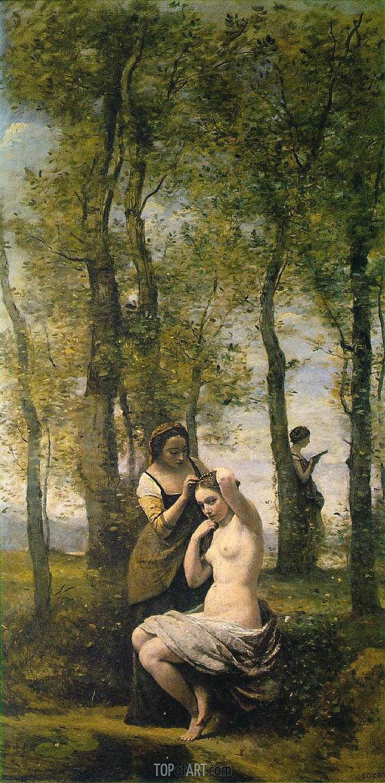 La Toilette (Landscape with Figures), 1859 | Corot | Painting Reproduction