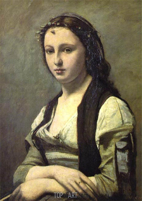 Corot | Woman with a Pearl, c.1858/68