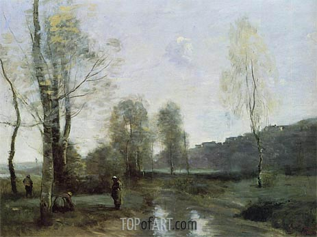 Canal in Picardi, c.1865/71 | Corot | Painting Reproduction