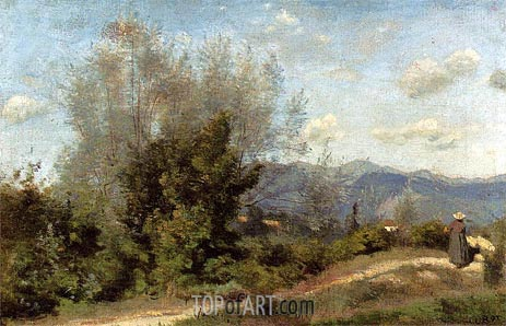 In the Vicinity of Geneva, c.1845/50 | Corot | Painting Reproduction