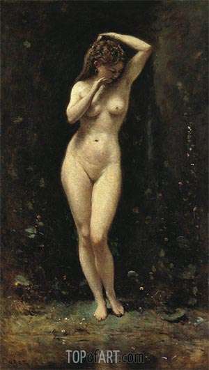 Diana Bathing - The Fountain, c.1869/70 | Corot | Painting Reproduction