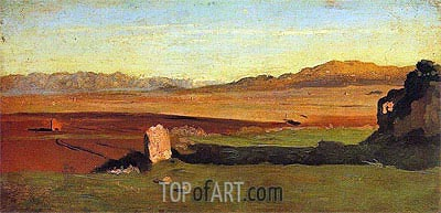Roman Countryside, undated | Corot | Painting Reproduction