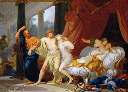 Socrates Dragging Alcibiades from the Arms of Voluptuous Pleasure | Baron Jean Baptiste Regnault | Painting Reproduction