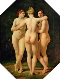 The Three Graces | Baron Jean Baptiste Regnault | Painting Reproduction