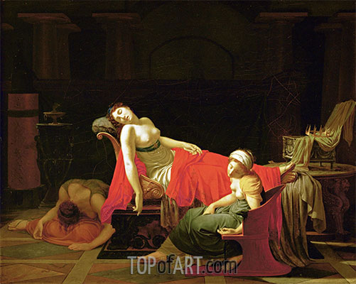 Death of Cleopatra, c.1796/97 | Baron Jean Baptiste Regnault | Painting Reproduction