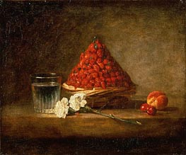 Basket of Wild Strawberries, 1761 von Chardin | Gemälde-Reproduktion