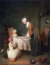 Saying Grase (Le Beneoicite) | Chardin | Painting Reproduction