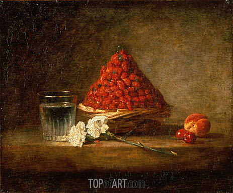 Chardin | Basket of Wild Strawberries, 1761