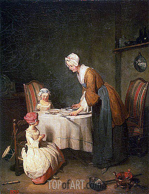 Saying Grase (Le Beneoicite), 1744 | Chardin | Painting Reproduction
