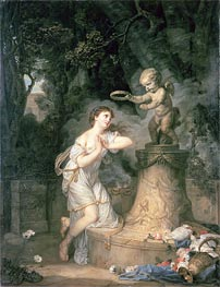 Votive Offering to Cupid, 1767 by Jean-Baptiste Greuze | Painting Reproduction