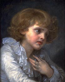 Head of a Young Boy (Tete d'un Garcon) | Jean-Baptiste Greuze | Painting Reproduction