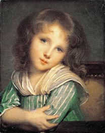 Girl at the Window, undated by Jean-Baptiste Greuze | Painting Reproduction