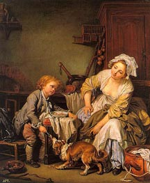 The Spoiled Child, c.1760/65 by Jean-Baptiste Greuze | Painting Reproduction