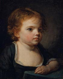 Portrait of a Child, undated by Jean-Baptiste Greuze | Painting Reproduction