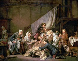 The Paralytic (Filial Piety), 1763 by Jean-Baptiste Greuze | Painting Reproduction
